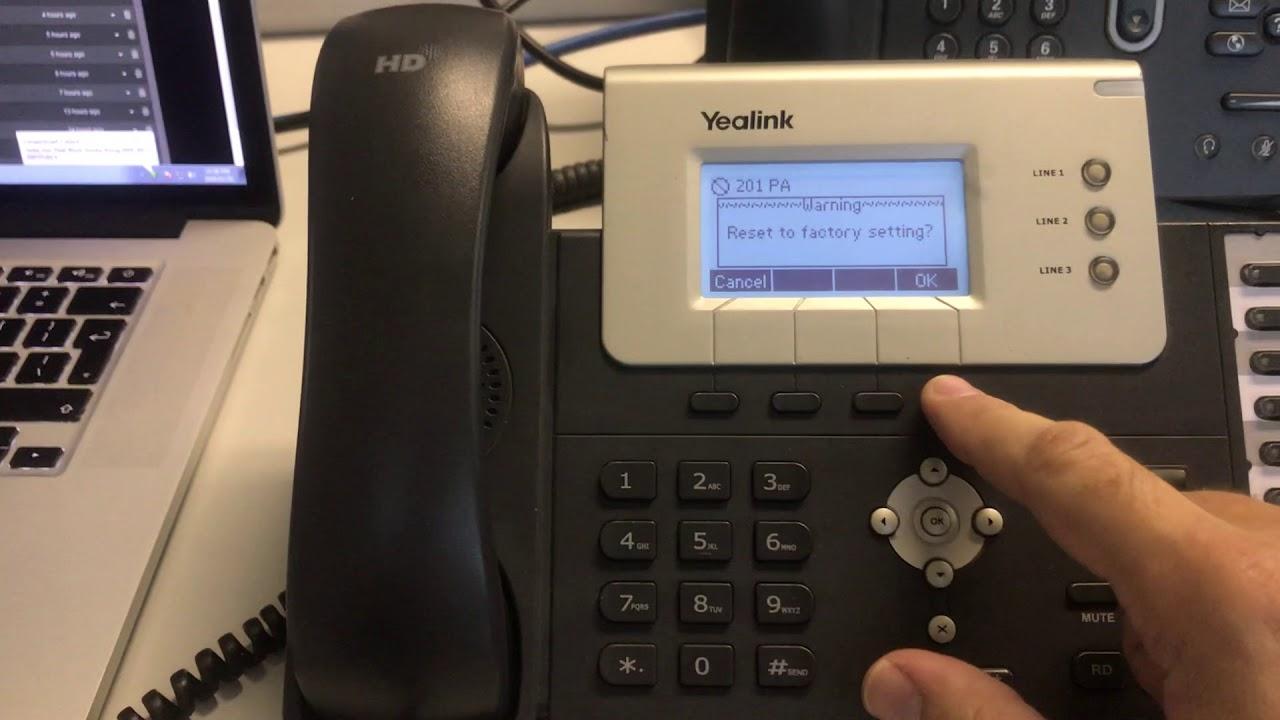 Yealink T26P Requires admin password to reset to factory default