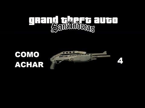 GTA San Andreas - Como Achar 4 Escopeta De Combate (Arma)