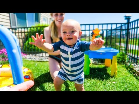 BABY CALVIN'S FIRST STEPS!