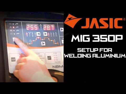 Jasic MIG 350P - Setting up for welding aluminium