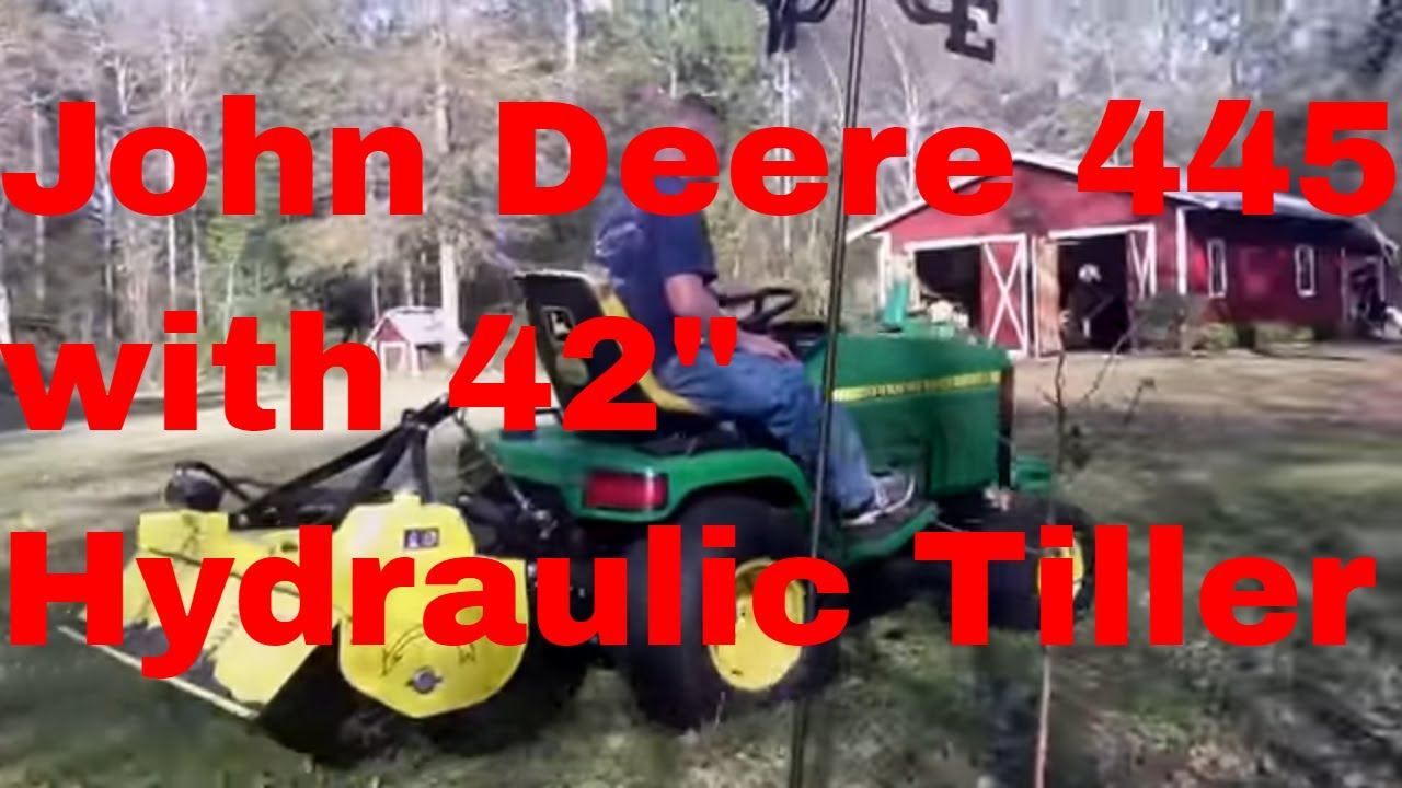 John Deere 445 With 42 Hydraulic Tiller