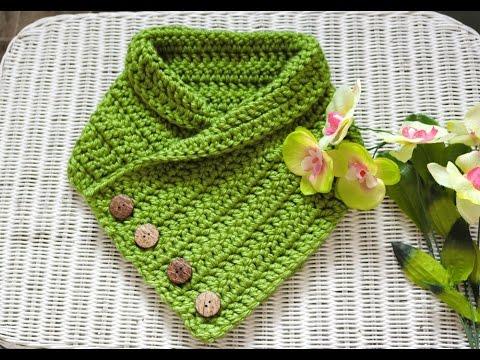 Crochet A Cozy 4 Button Cowl - YouTube