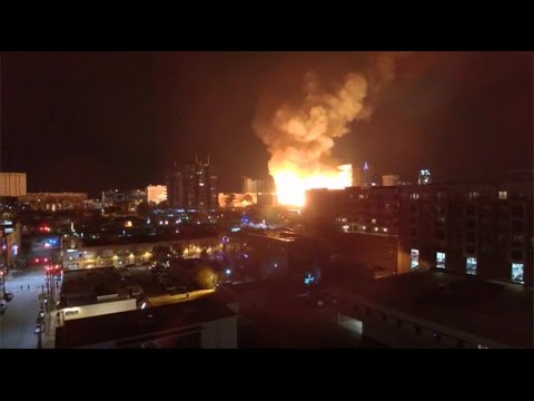 5 Alarm Fire Rages Near Downtown Raleigh North Carolina