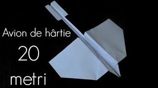 Cum să faci un avion de hârtie care zboara mult - 20 de metri / ORIGAMI #1