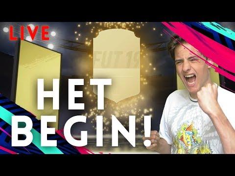 HET BEGIN VAN DE NIEUWE FIFA!! Packs & Traden || FIFA 19 *LIVE* Nederlands