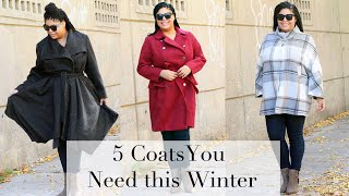 5 Coats You Need this Winter (Plus Size)