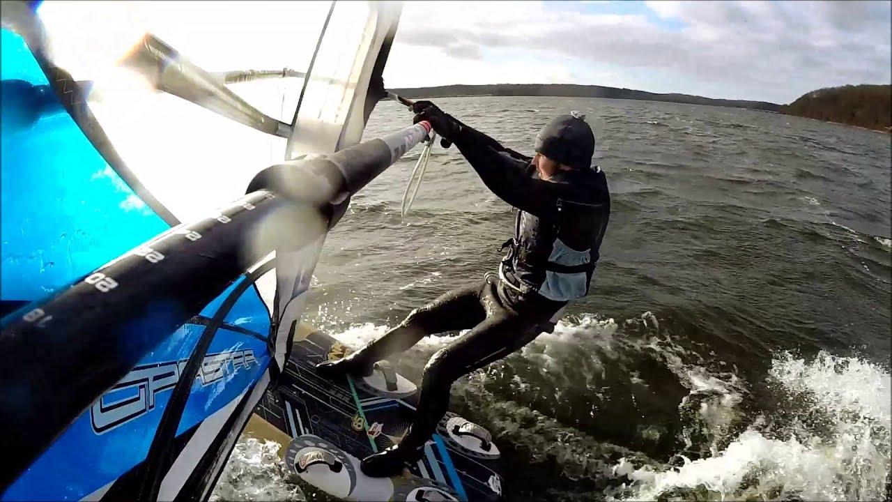 First slalom windsurfing session 2016 manta 85 vapor 9 5 for Portent g3 sl 8