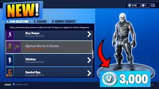 How To Use The NEW Refund System in FORTNITE! Refund ANY Skin for FREE V-BUCKS! (Fortnite Tutorial)