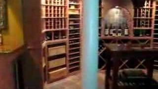 Custom All Heart Redwood Wine Cellar