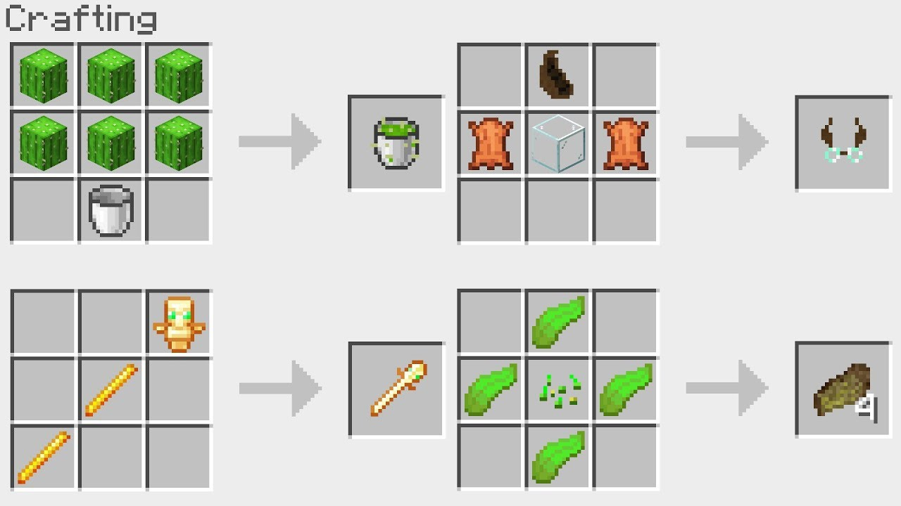 Special New Minecraft 1 14 Crafting Recipes