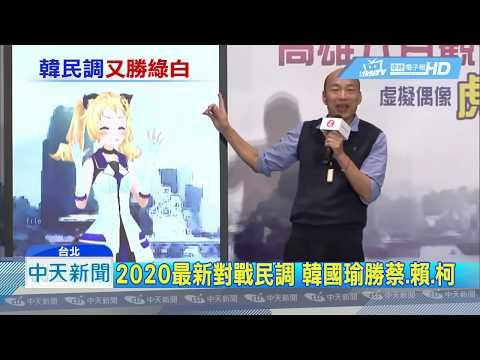 20190515中天新聞 2020最新對戰民調 韓國瑜勝蔡、賴、柯