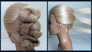 Прическа за 5 минут.Легкая Свадебная,Вечерняя прическа.Hairstyle 5 minutes, light wedding,evening