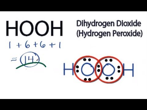 hooh lewis structure: how to draw the lewis structure for hydrogen peroxide  - youtube