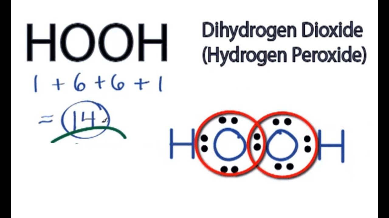 small resolution of hooh lewis structure how to draw the lewis structure for hydrogen peroxide