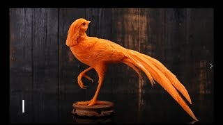 Cách cắt tỉa hoa quả, tỉa chim trĩ từ cà rốt,How to carving fruit? carving pheasants with carrots.