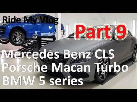 High End Car Detailing Ride My Vlog 9 with Mercedes CLS, Porsche macan and more