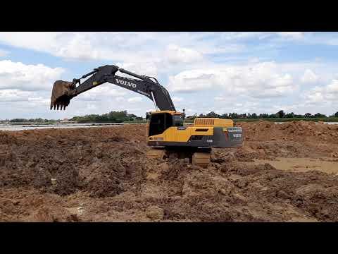 ใหญ่จัด VOLVO EC350D เล่นอ่างเก็บน้ำ Excavator EP.5381