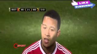 Manchester United Vs Midtjylland 5 - 1 Europa League 25.02.2016