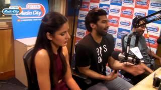 Cast of Fitoor Katrina Kaif, Aditya Roy Kapur & Abhishek Kapoor at RadioCity with RJ Sucharita