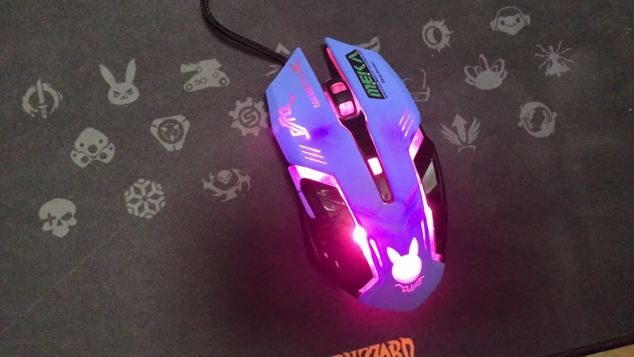 DVA Gaming Backlight Mouse Overwatch D VA