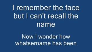 Green Day - Whatsername (Lyrics on Screen)