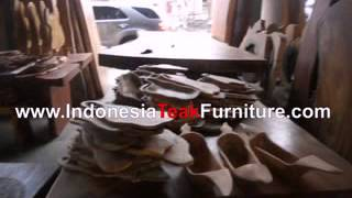 Large Natural Edge Suar Wood Table Furniture From Bali