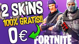 HOW TO GET 2 SKINS 100% FREE IN FORTNITE!!