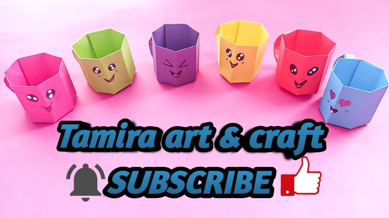 Diy Mini Paper Cup/Paper Craft's For School/Easy Origami Paper Cup/Origami