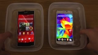 Samsung Galaxy S5 vs. Sony Xperia Z2 - Water Test Which Is Best?