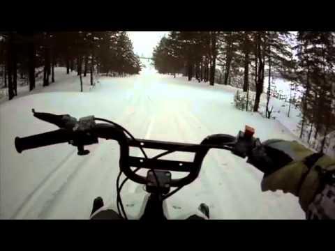 Снегоход 'Рыбинка - 2'. Обкатка