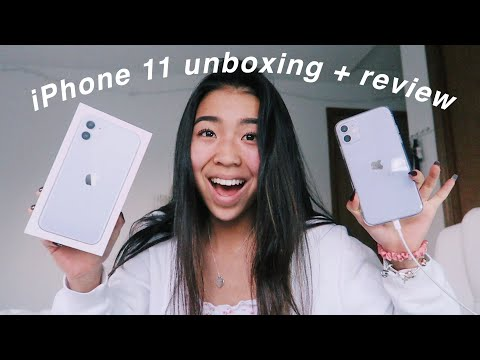 iPhone 11 unboxing + first impressions!!