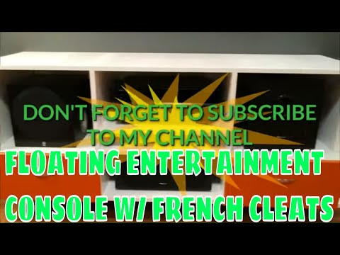 DIY Homemade Floating TV/Entertainment Console