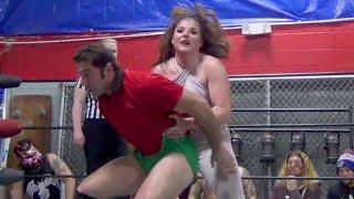 Corrine Mink vs Coach Mammone (Intergender Wrestling)