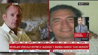 """Revelan vínculo entre D'Alessio y la banda narco de Rosario """"Los Monos"""""""