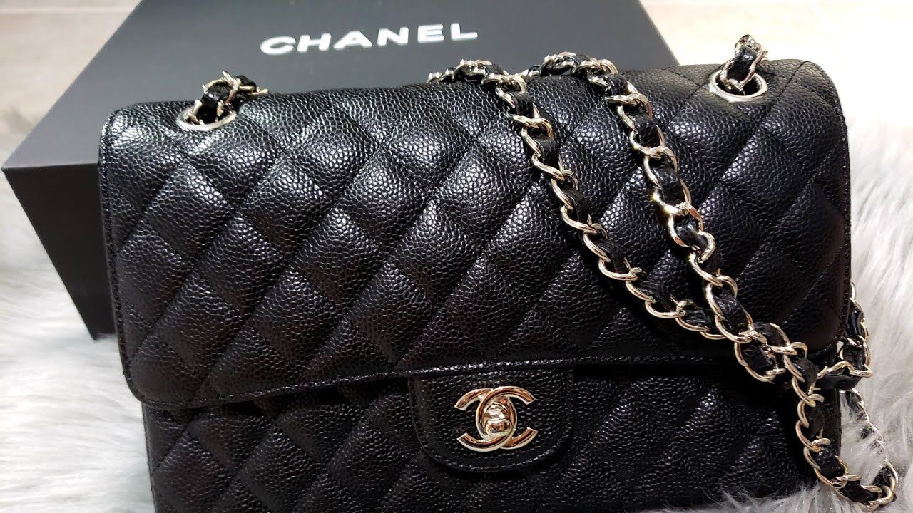 efd387ffe437 Bag review. Chanel classic. Double flap. Caviar leather. Medium large. 2.55  (Replica) (Nancy)