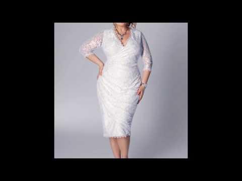 Белые платья для полных женщин