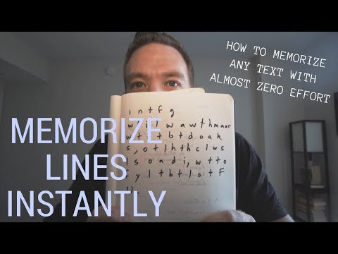 HOW TO MEMORIZE LINES INSTANTLY (SERIOUSLY) // RANDOM MEMORY TIPS #014