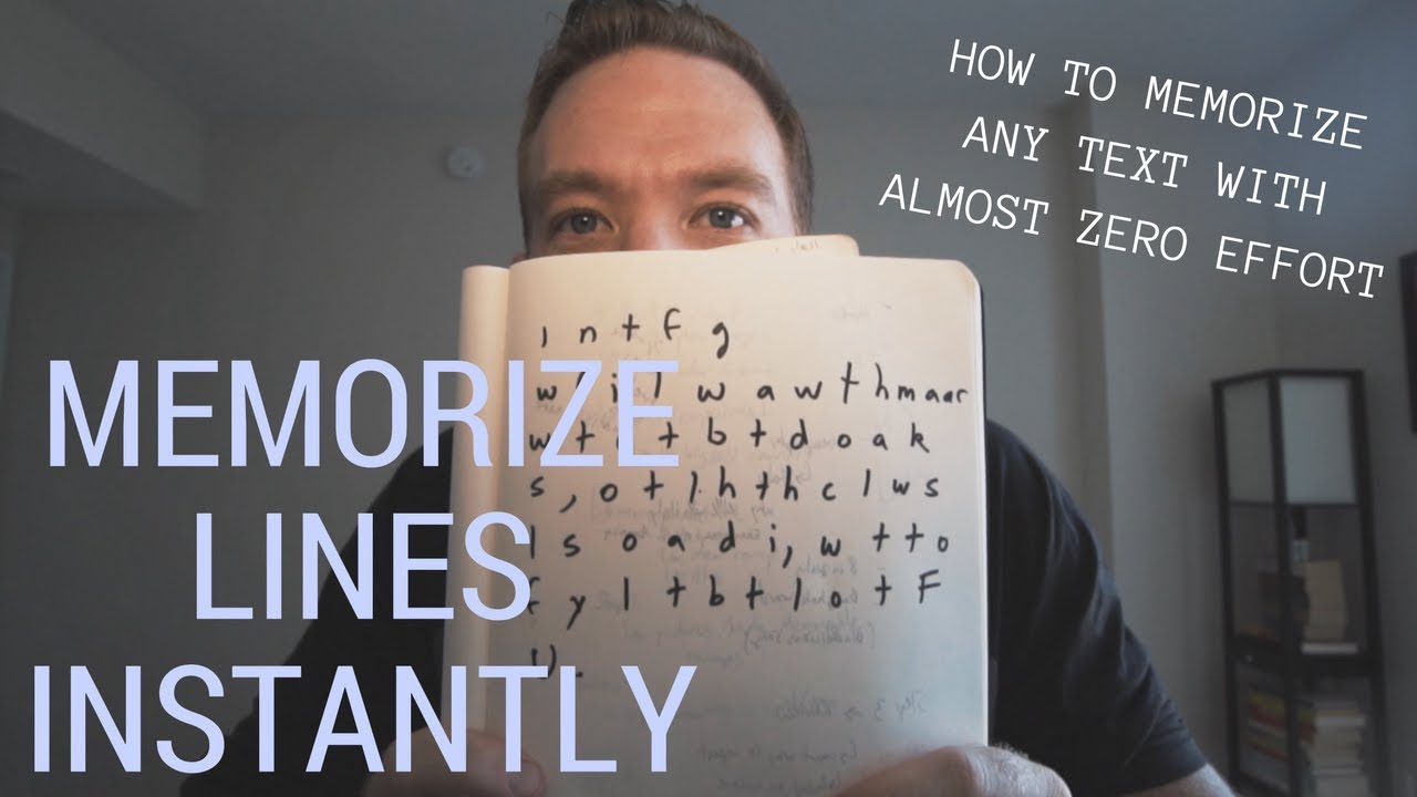 hight resolution of HOW TO MEMORIZE LINES INSTANTLY (SERIOUSLY) - YouTube