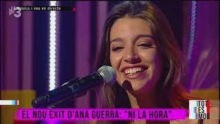 """Tot es mou - Ana Guerra canta """"Ni la hora"""""""