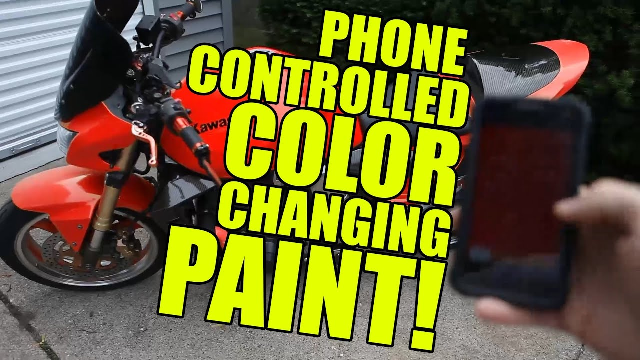Motorcycle Electric Paint Change Color