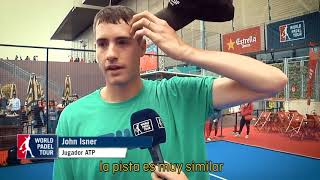 John Isner supports playing padel and the growth of the sport in the USA.