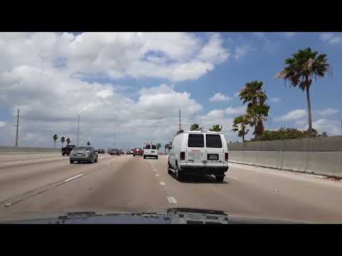 Miami, FL. Driving from Dania Beach to lauderhill. May 1, 2018