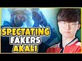 SPECTATING FAKER'S REWORKED AKALI!!! SKT T1 FAKER VS. KR CHALLENGER W/ NEW AKALI - League of Legends