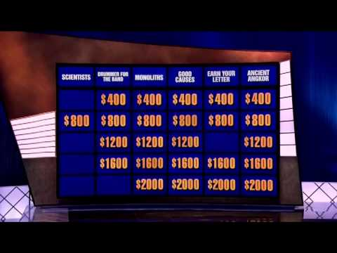 Jeopardy: musical clues 2/2013