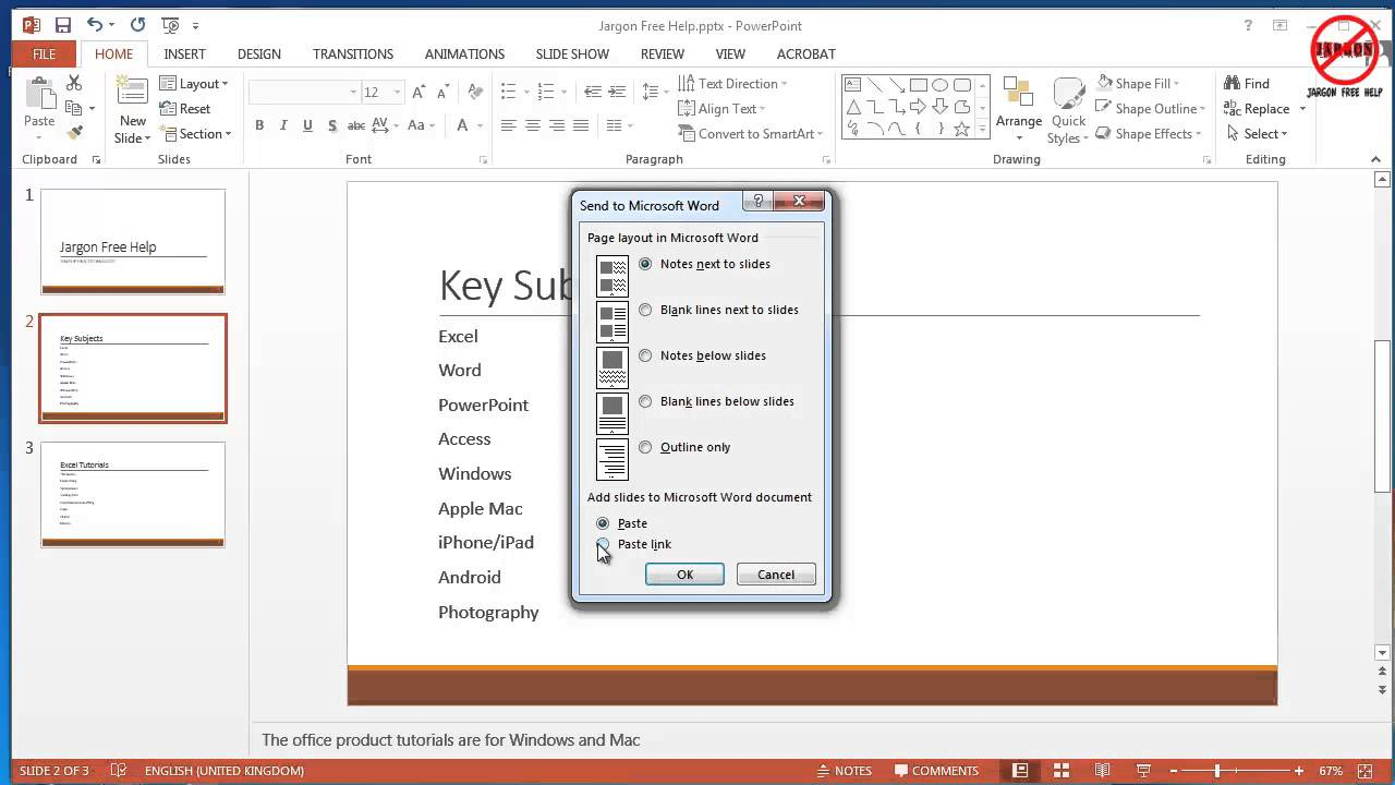 How To Print Powerpoint Handouts With Notes Youtube