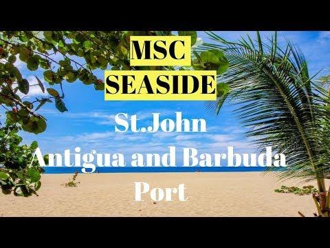 MSC SEASIDE St.John Antigua and Barbuda Port