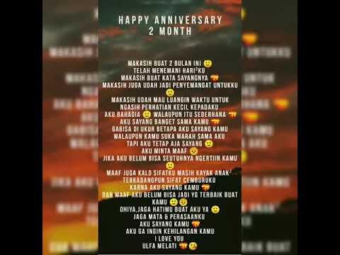 Kata Kata Happy Anniversary 2 Bulan Buat Pacar