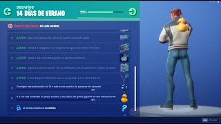 NEW* How to complete Challenge 12 14 Days Summer Fortnite Battle Royale FREE PATO Backpack!!