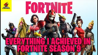 EVERYTHING THAT I ACHIEVED IN FORTNITE SEASON 9 (IN MOBILE WITH BATTLE PASS) #Fortnite #uctgaming