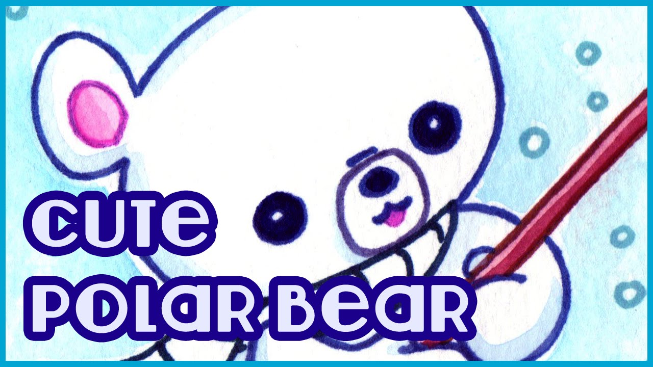 how to draw a realistic baby polar bear